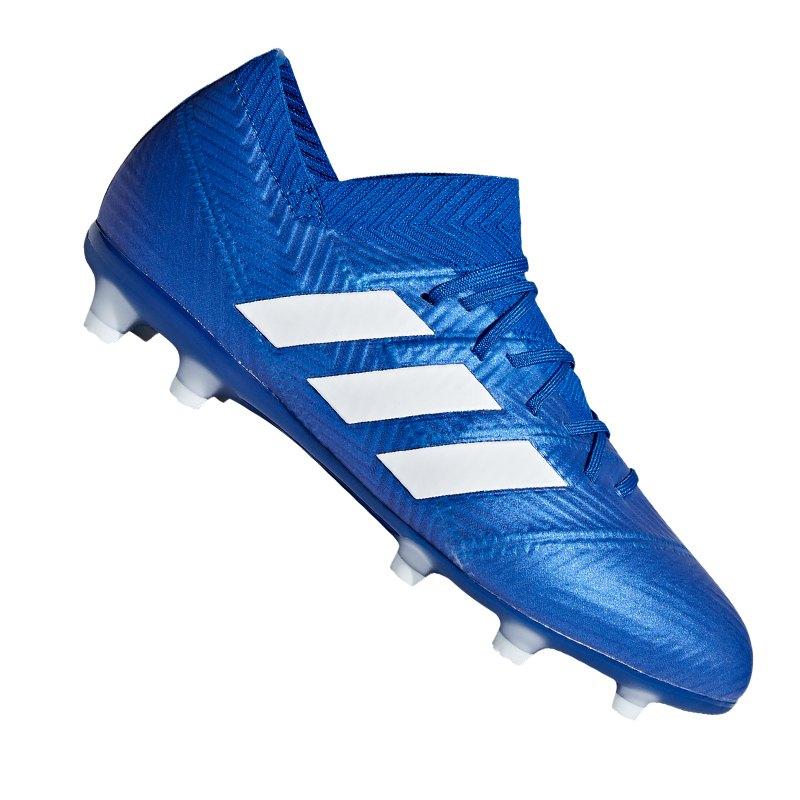 separation shoes ef11f 35cfc adidas NEMEZIZ 18.1 FG J Kids Blau Weiss Blau - blau