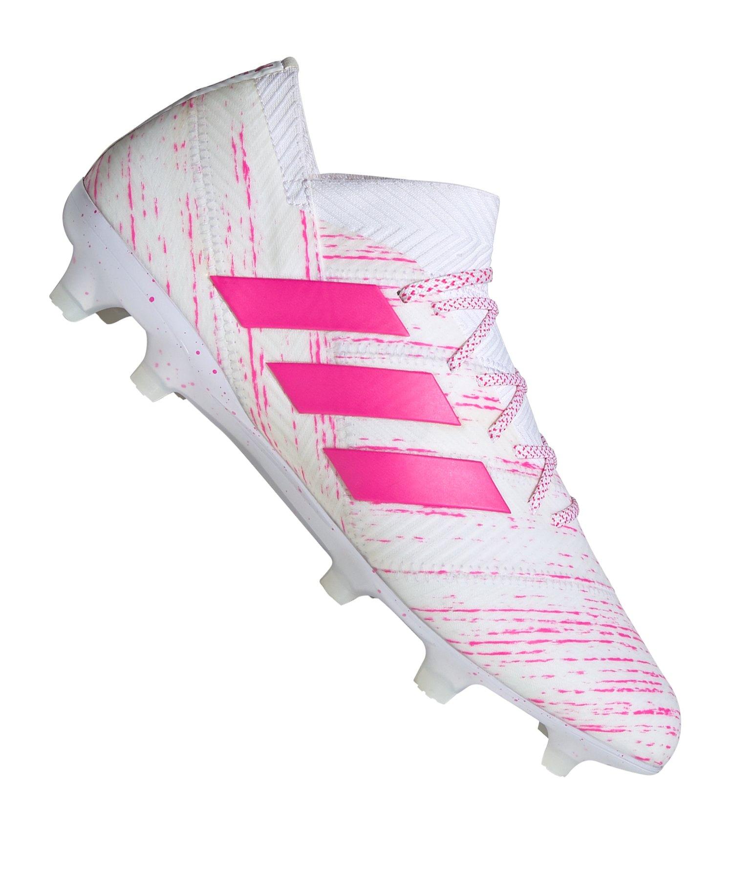 official photos a0369 2aeac adidas NEMEZIZ 18.1 FG Weiss Pink - weiss