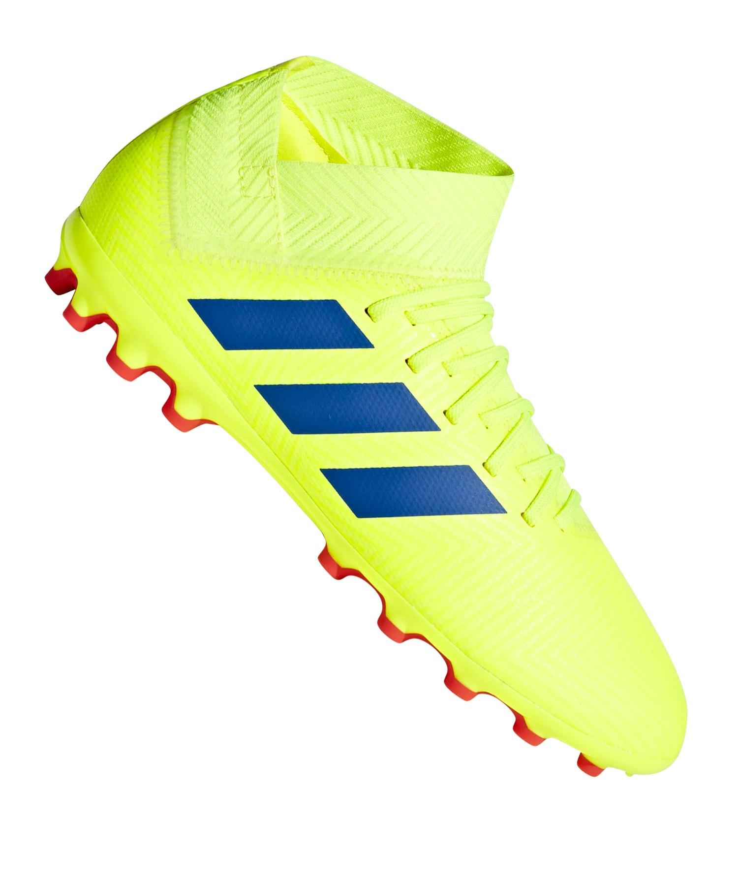 b77d742f9 adidas NEMEZIZ 18.3 AG J Kids Gelb Rot |Kinderfußballschuh ...