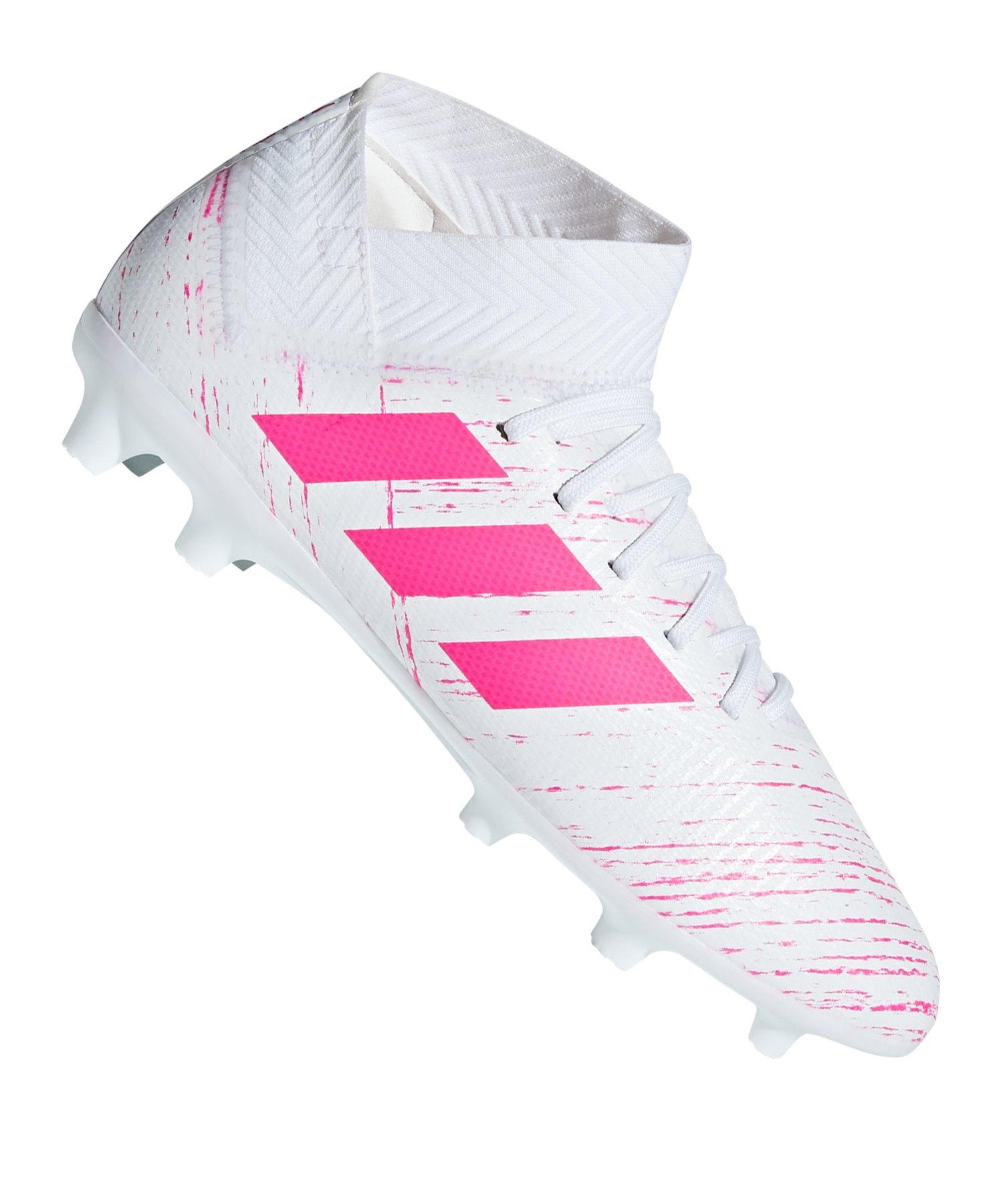 adidas NEMEZIZ 18.3 FG J Kids Weiss Pink