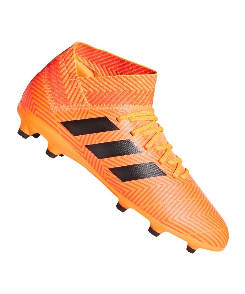 finest selection ed418 800b5 adidas NEMEZIZ 18.3 FG J Kids Orange Schwarz - orange