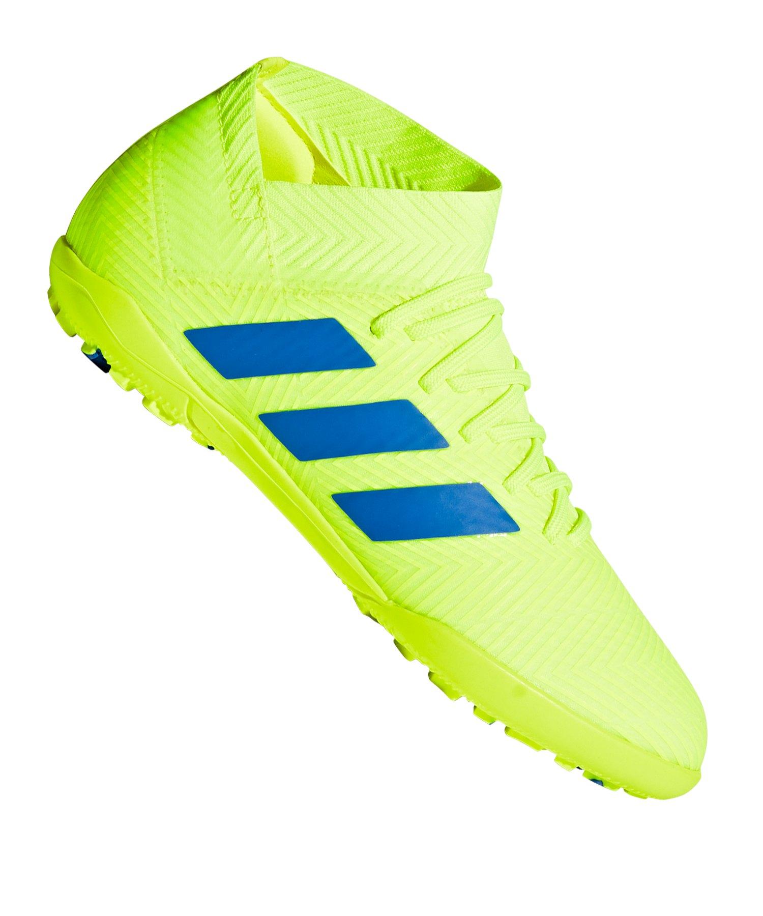 adidas NEMEZIZ 18.3 TF J Kids Gelb Blau