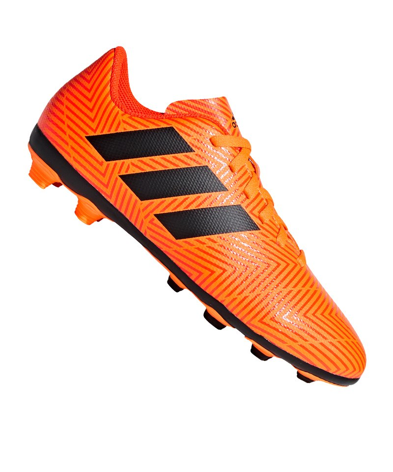 newest collection edce4 10a9e adidas NEMEZIZ 18.4 FxG J Kids Orange Schwarz - orange
