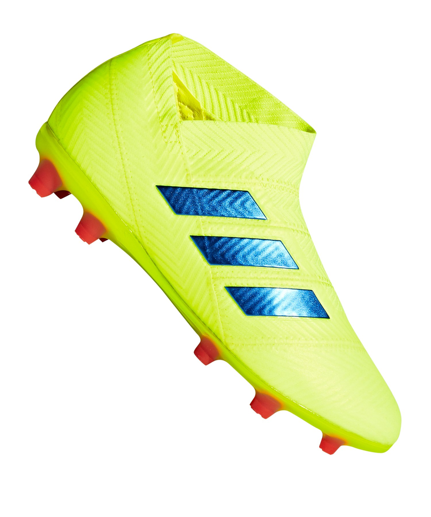adidas NEMEZIZ 18+ FG J Kids Gelb Blau