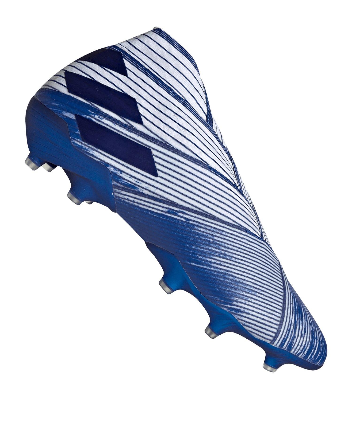 adidas NEMEZIZ 19+ FG Weiss Blau