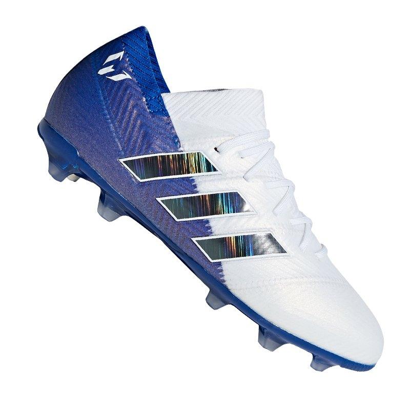 adidas NEMEZIZ Messi 18.1 FG J Kids Weiss Blau