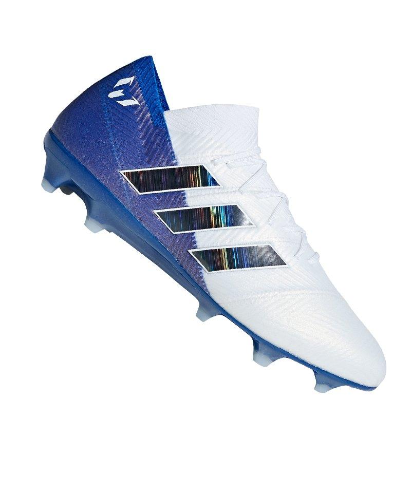 brand new 6a8c7 c41f1 adidas NEMEZIZ Messi 18.1 FG Weiss Blau - weiss
