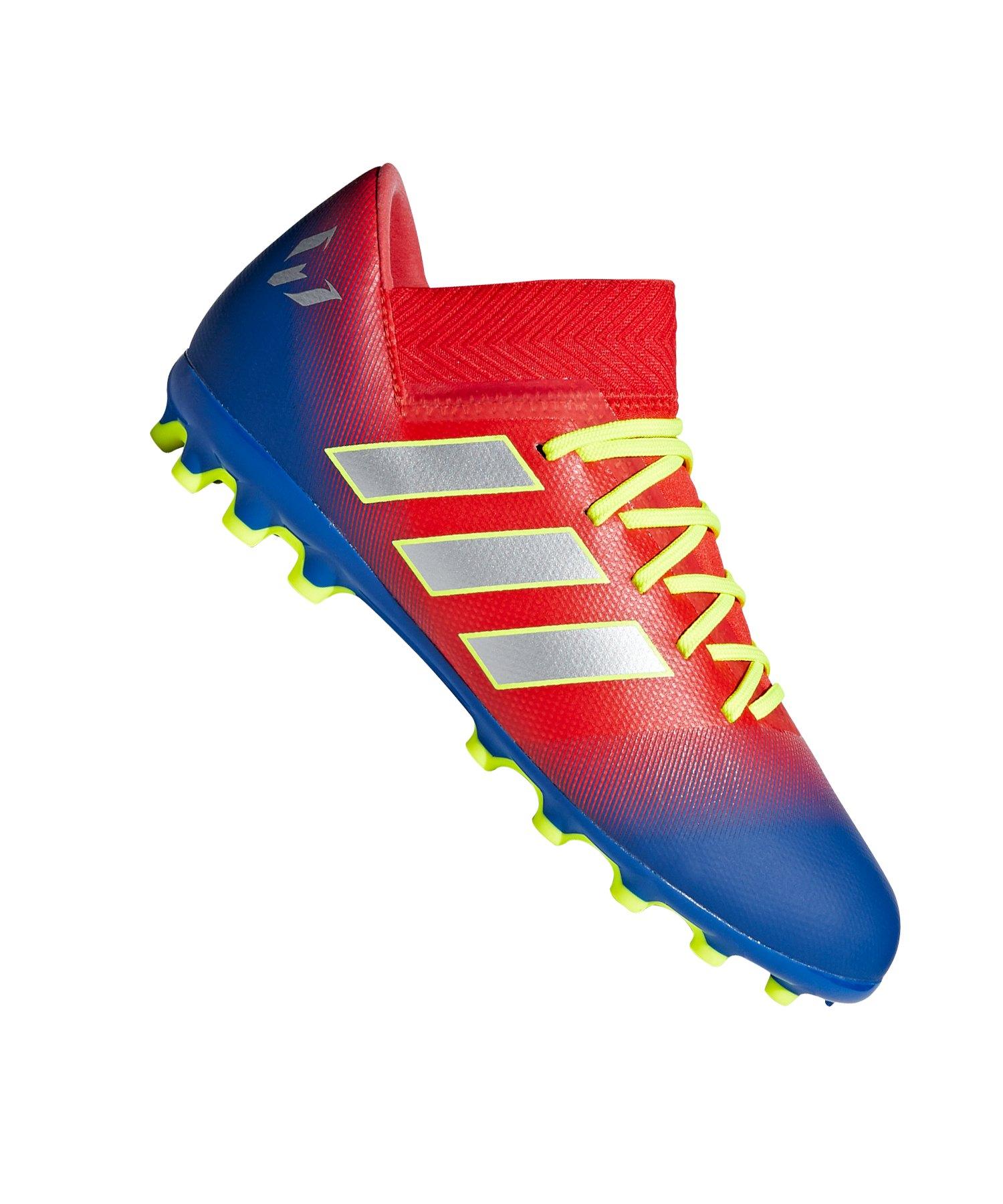 64d9de4749cd adidas NEMEZIZ Messi 18.3 AG J Kids Rot Blau - rot