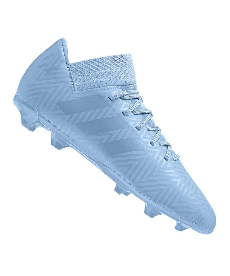 new style b2cc9 0a640 adidas NEMEZIZ Messi 18.3 FG J Kids Blau - blau