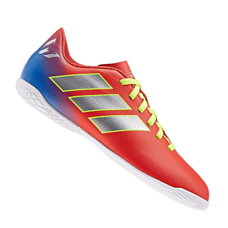adidas NEMEZIZ Messi 18.4 IN Halle J Kids Rot Blau