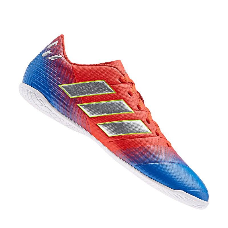 adidas NEMEZIZ Messi 18.4 IN Halle Rot Blau