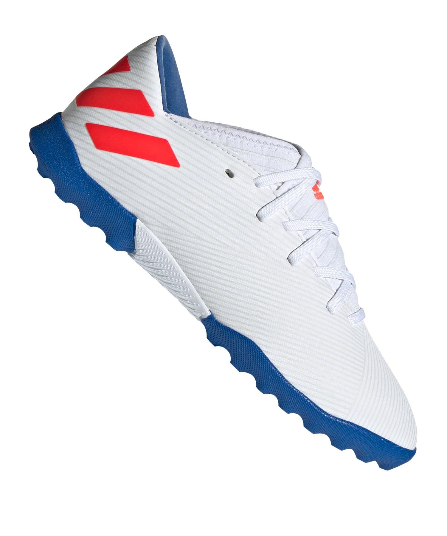 adidas NEMEZIZ Messi 19.3 TF J Kids Weiss Blau