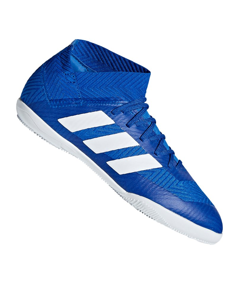 buy popular 0e63c 1e23c adidas NEMEZIZ Tango 18.3 IN Halle J Kids Weiss - blau