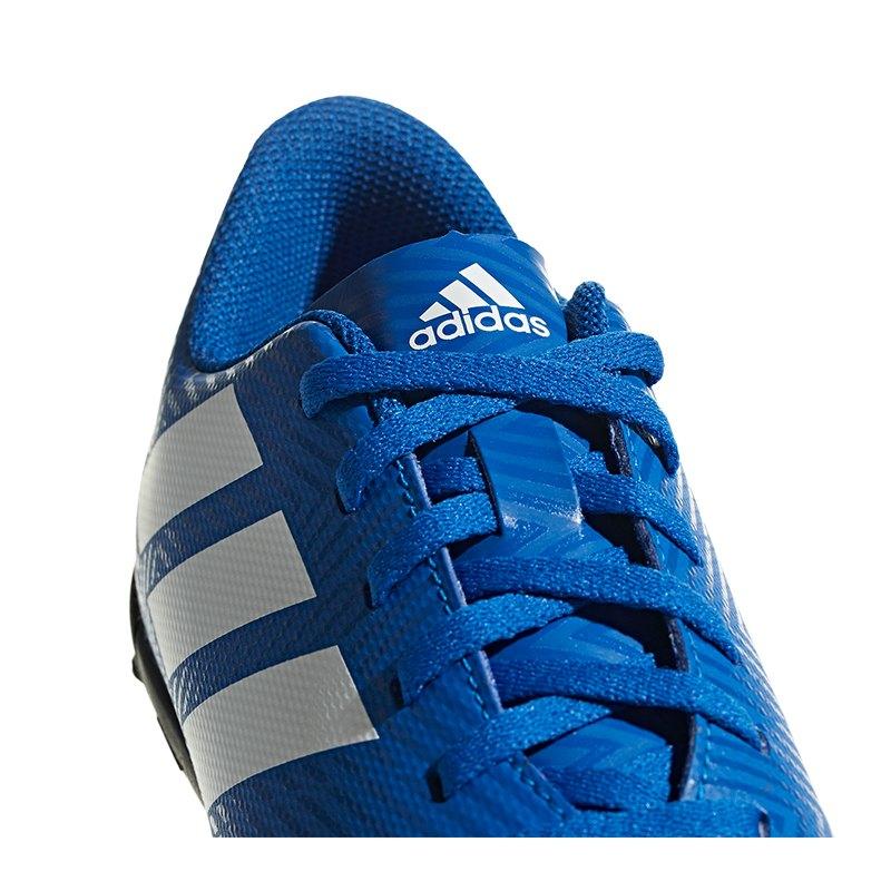 free shipping b4e2d a65e2 ... adidas NEMEZIZ Tango 18.4 TF J Kids Weiss Blau - blau ...