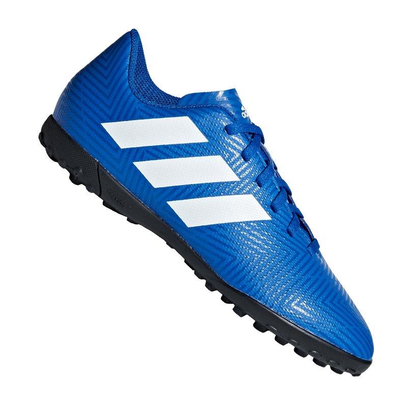watch 0539f 7f694 adidas NEMEZIZ Tango 18.4 TF J Kids Weiss Blau - blau