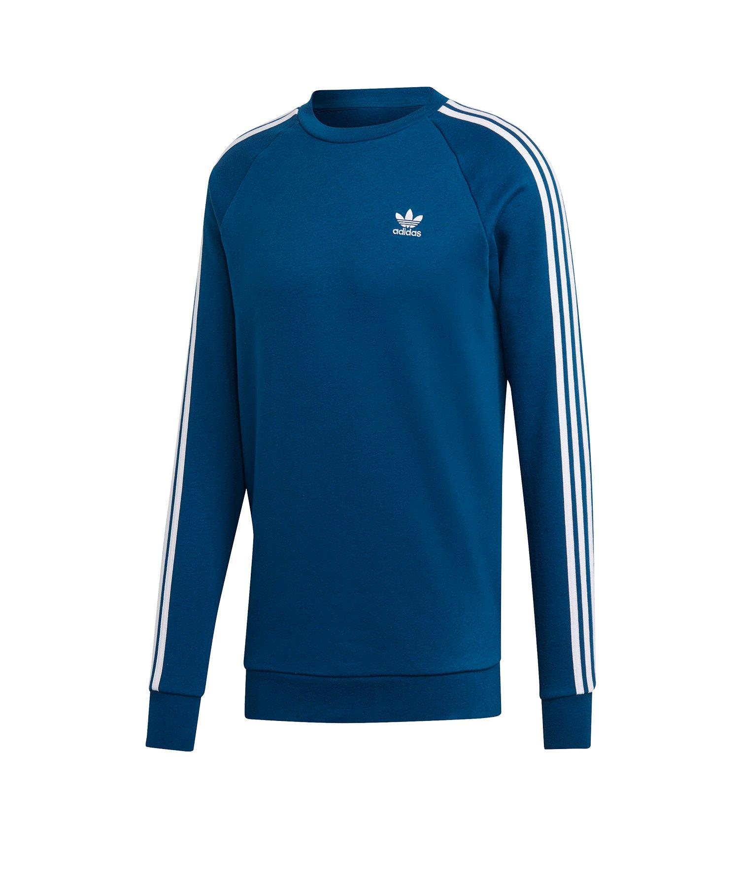 adidas Originals 3 Stripes Crew Sweatshirt Blau