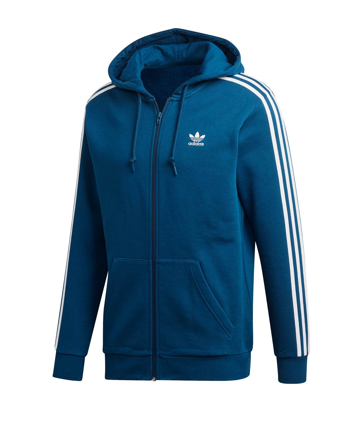 adidas Originals 3 Stripes Kapuzenjacke Blau