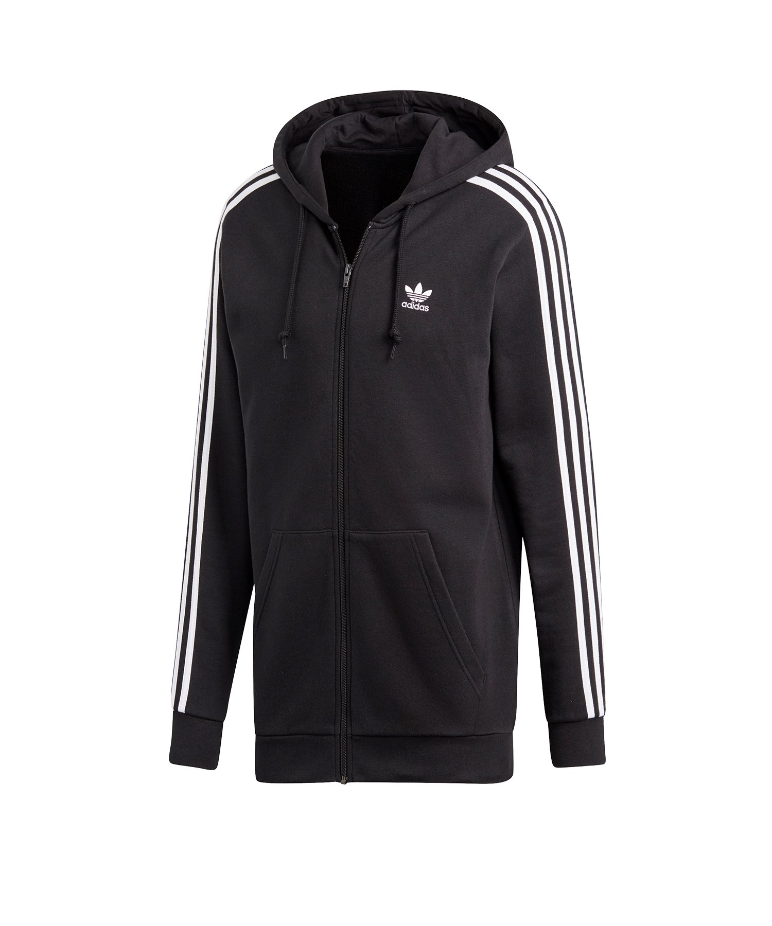 adidas Originals 3 Stripes Kapuzenjacke Schwarz