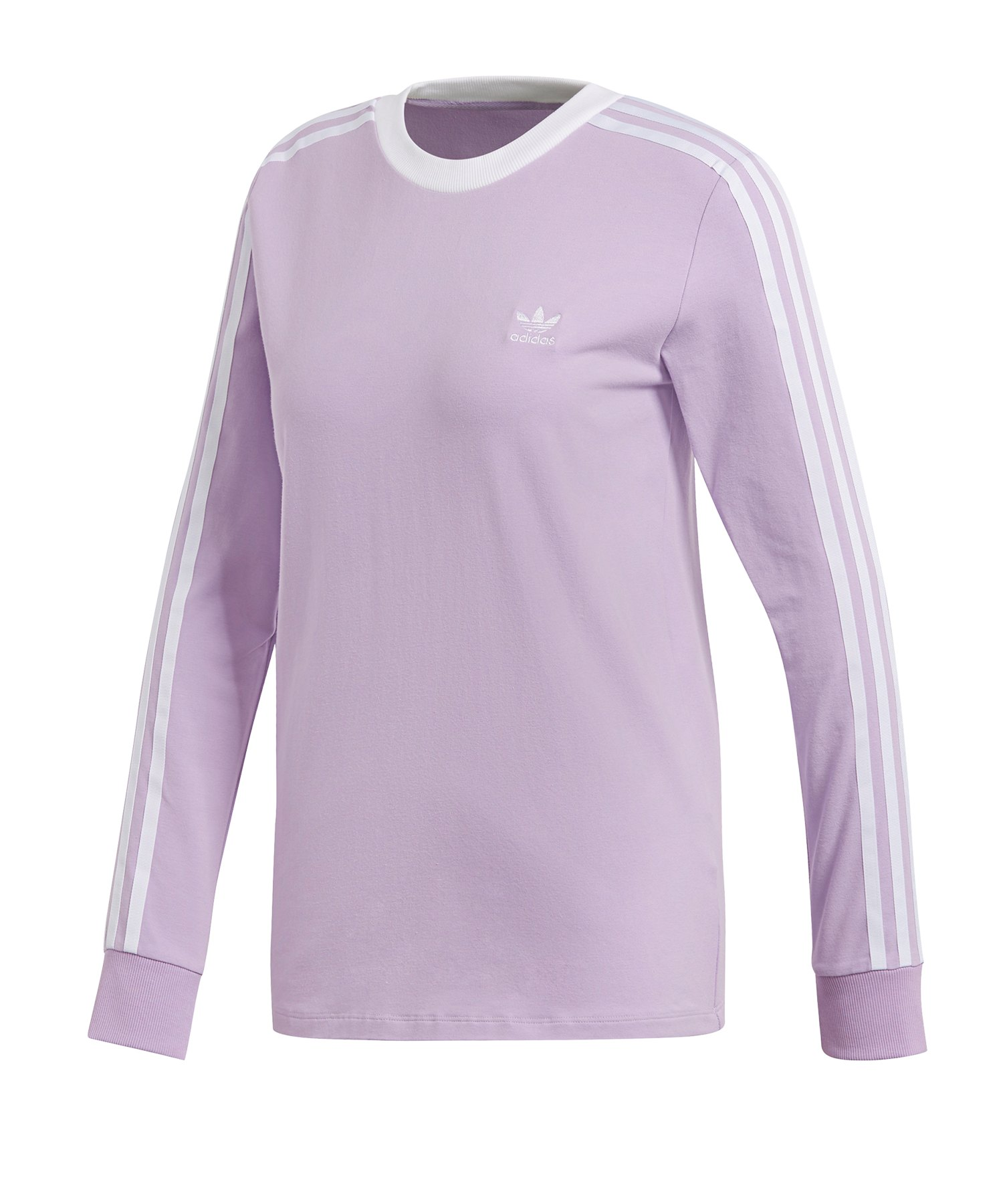 ff16ce162b2bd adidas Originals 3 Stripes Sweatshirt Damen Lila |Lifestyle ...