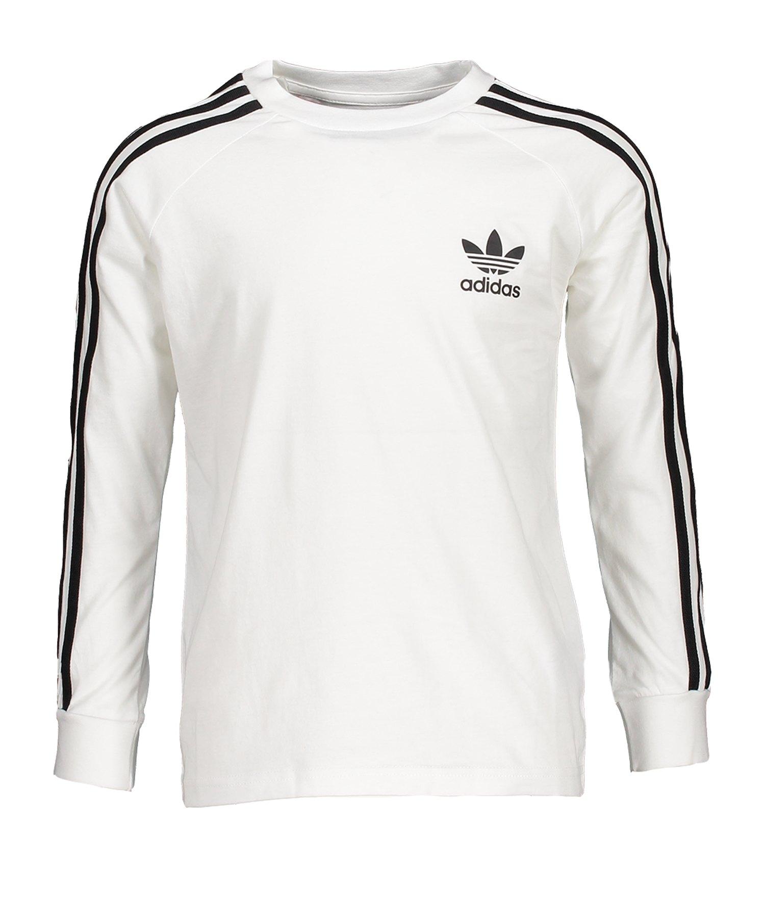 adidas Originals 3 Stripes Sweatshirt Kids Weiss
