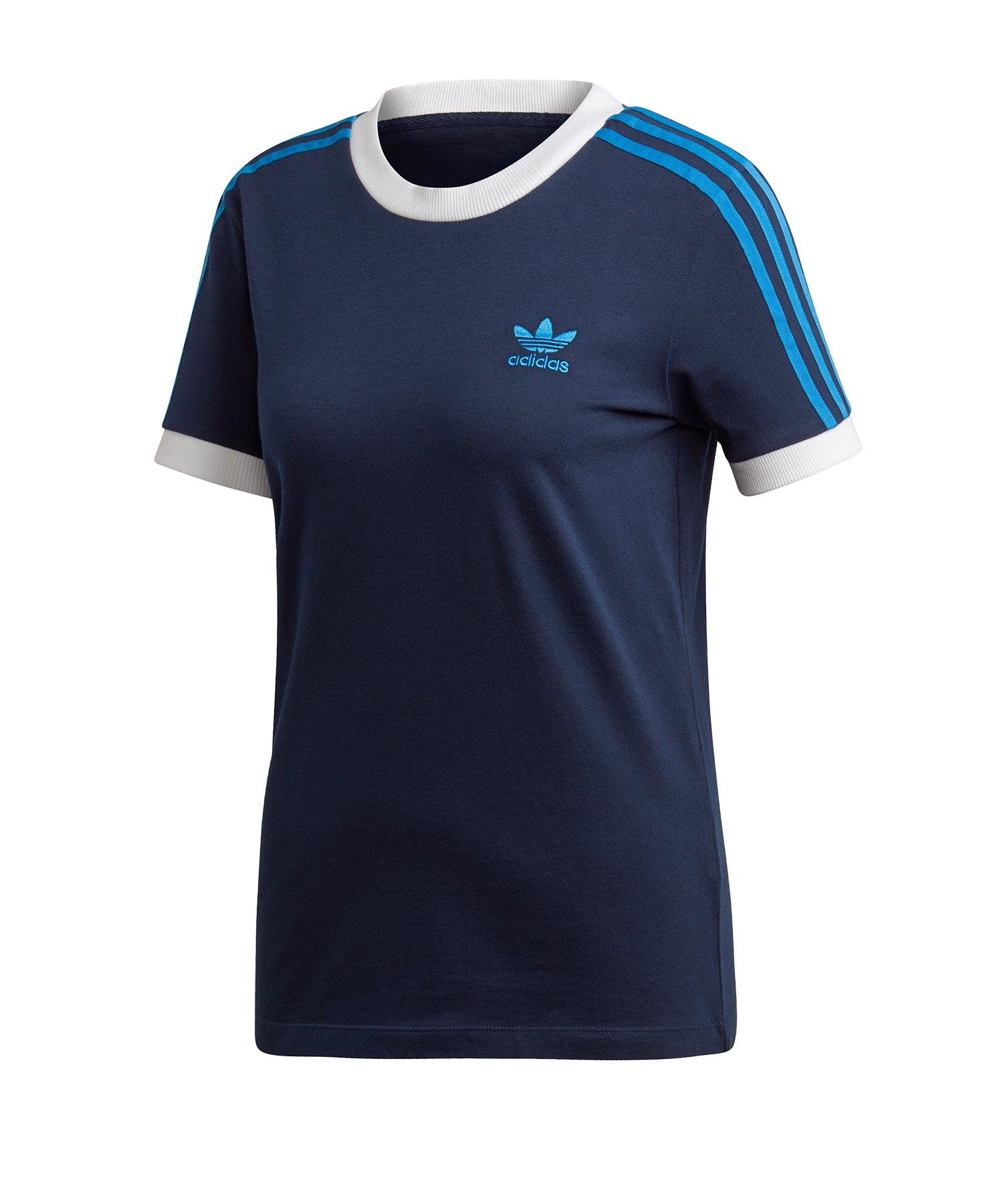 adidas Originals 3 Stripes T Shirt Damen Blau