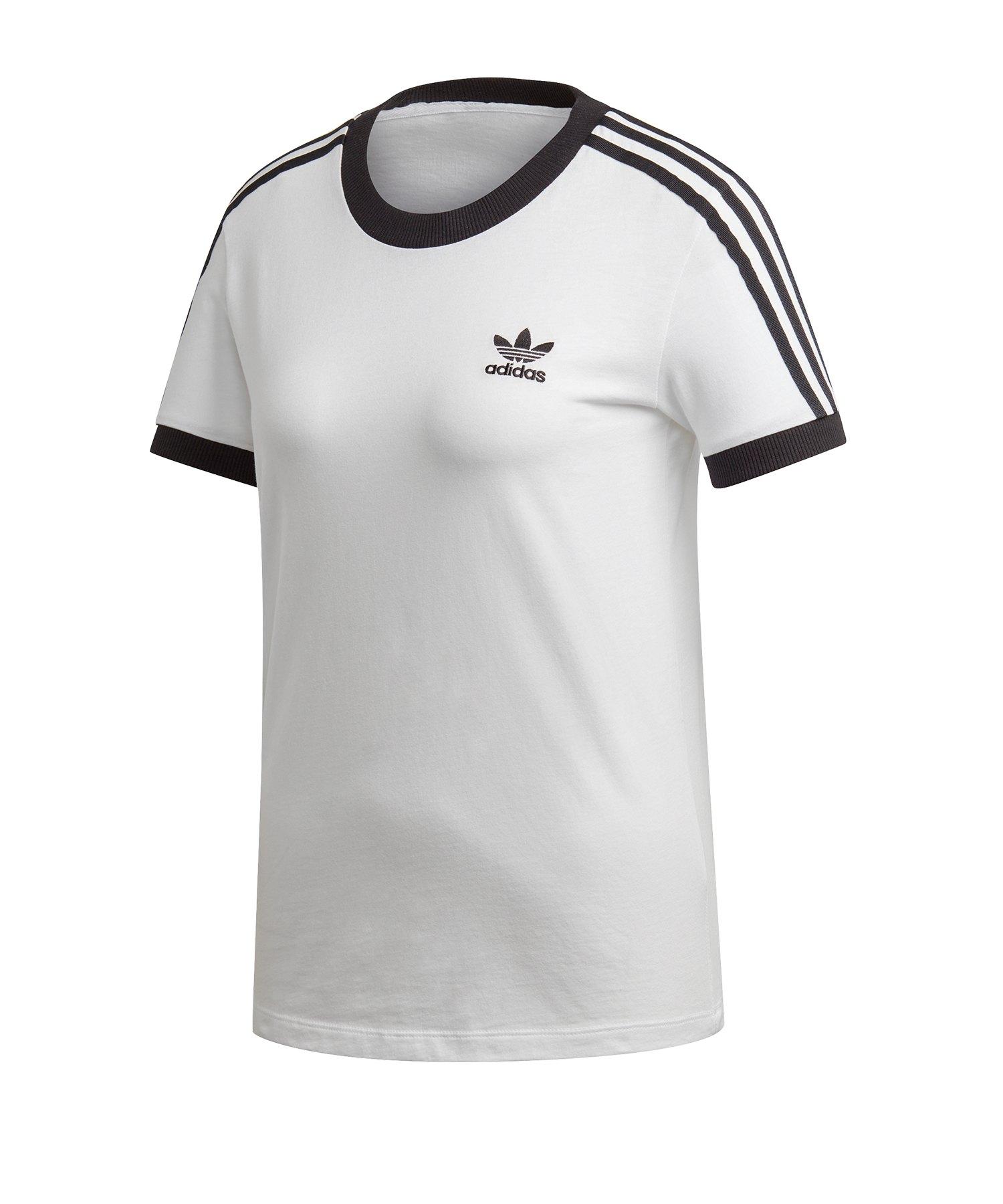 adidas Originals 3 Stripes T Shirt Damen Weiss