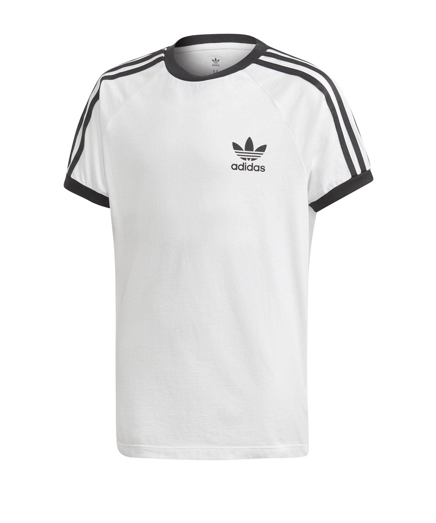 adidas Originals 3 Stripes T Shirt Kids Weiss