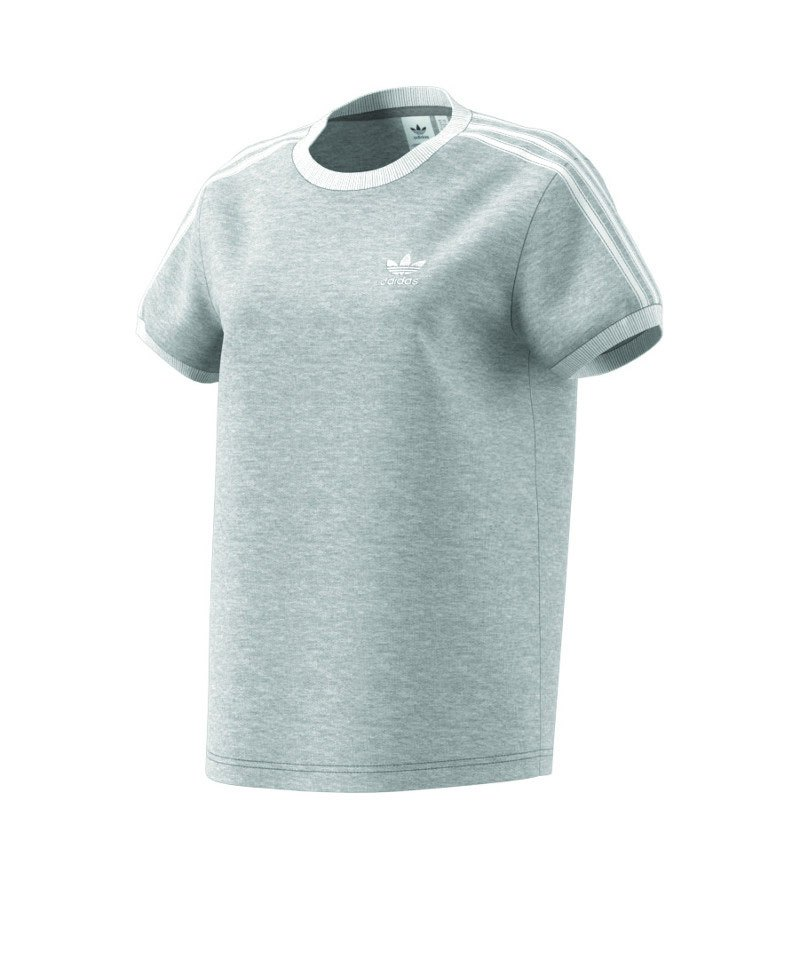 adidas Originals 3 Stripes Tee T Shirt Damen Grau
