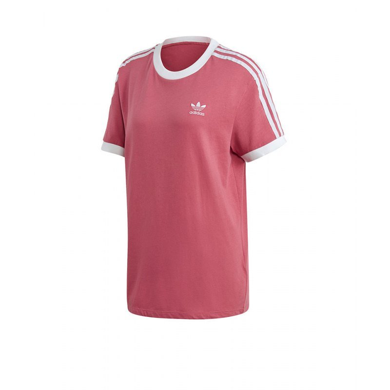 4e5d71e7ad adidas Originals 3 Stripes Tee T-Shirt Damen Rosa | Streetwear ...