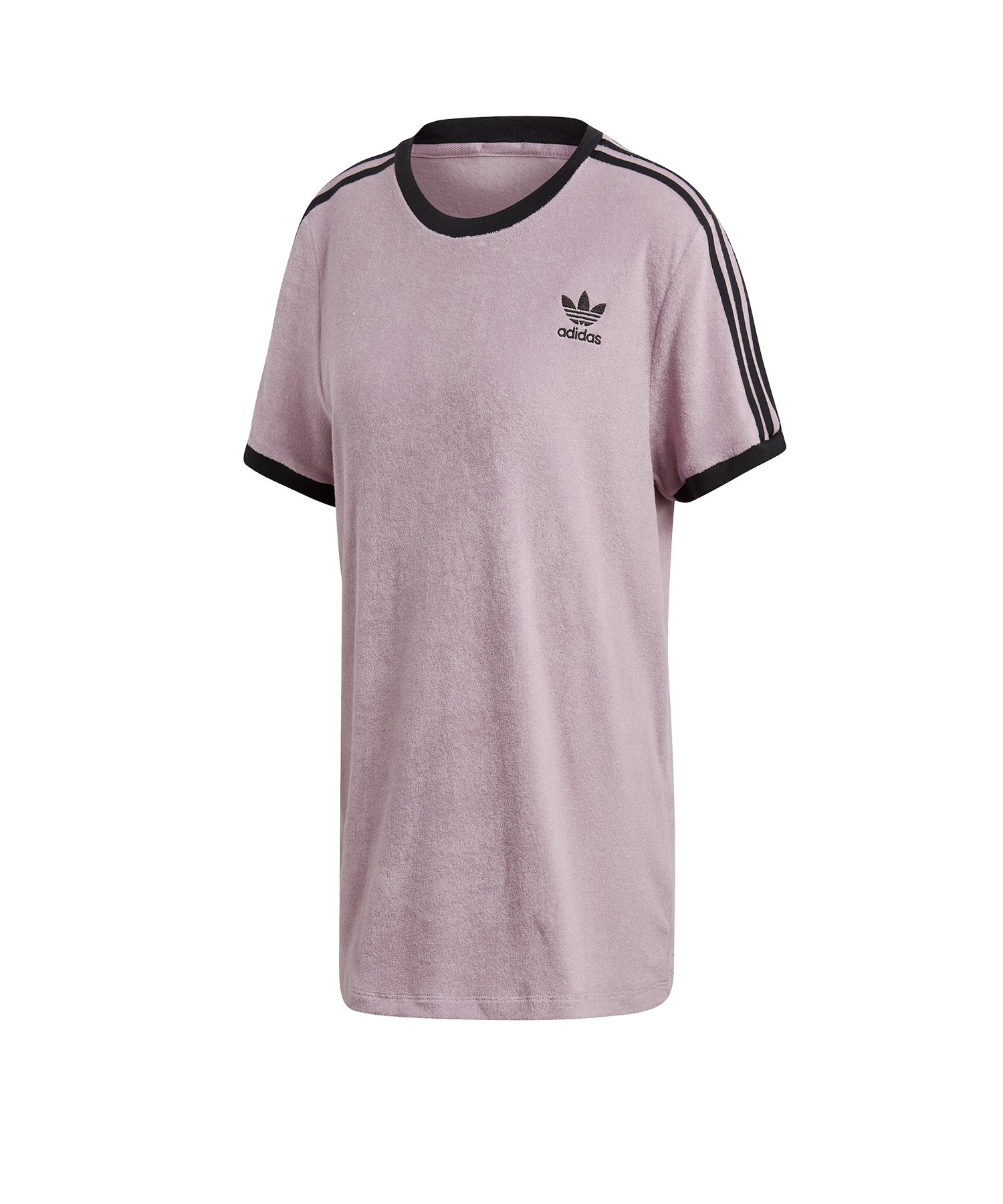 adidas Originals 3 Stripes Tee T Shirt Damen Lila
