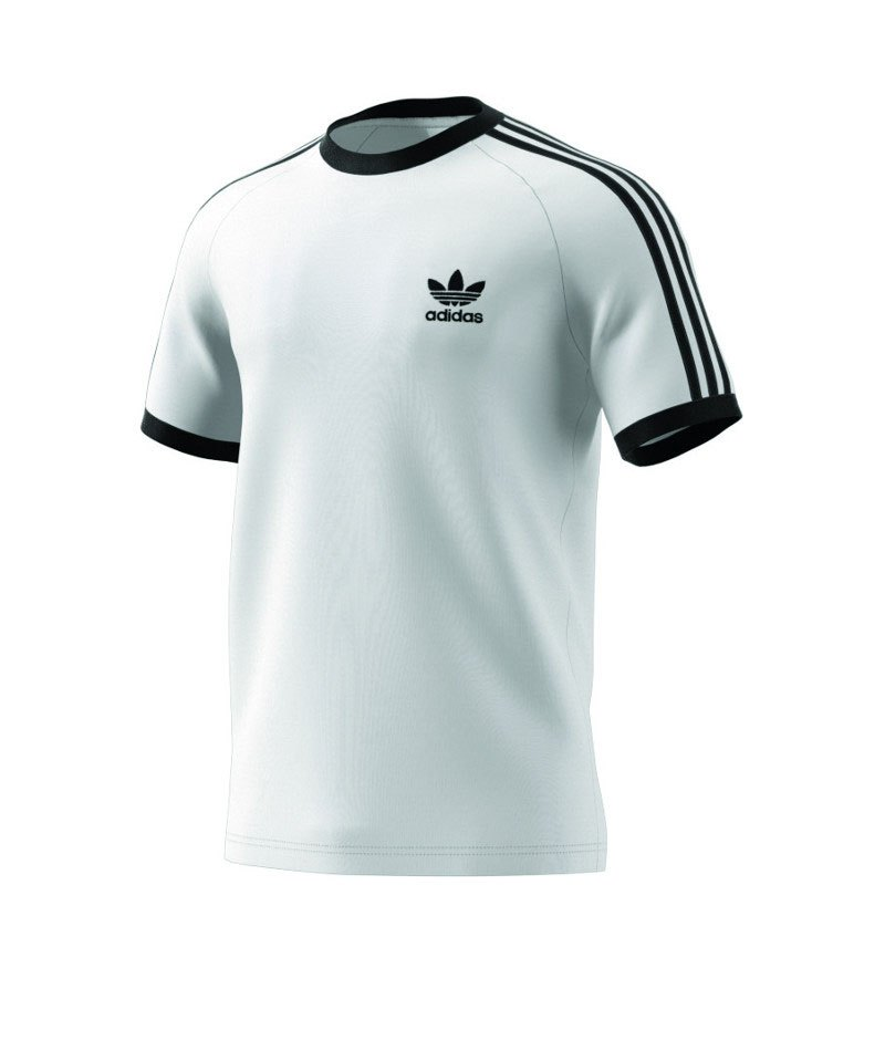 cheap price top quality authorized site adidas Originals 3 Stripes Tee T-Shirt Weiss