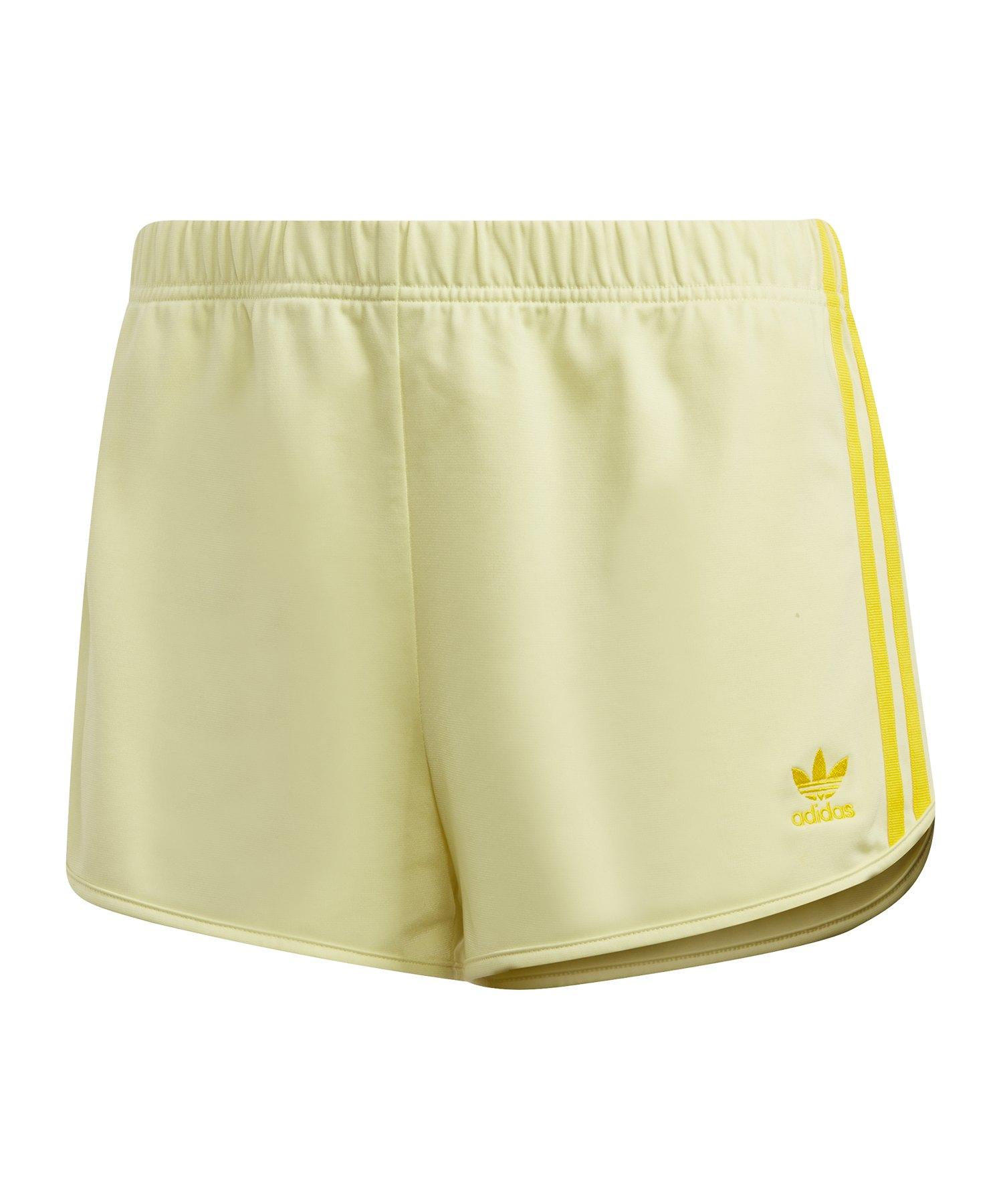 adidas Originals 3 Strips Damen Short Gelb