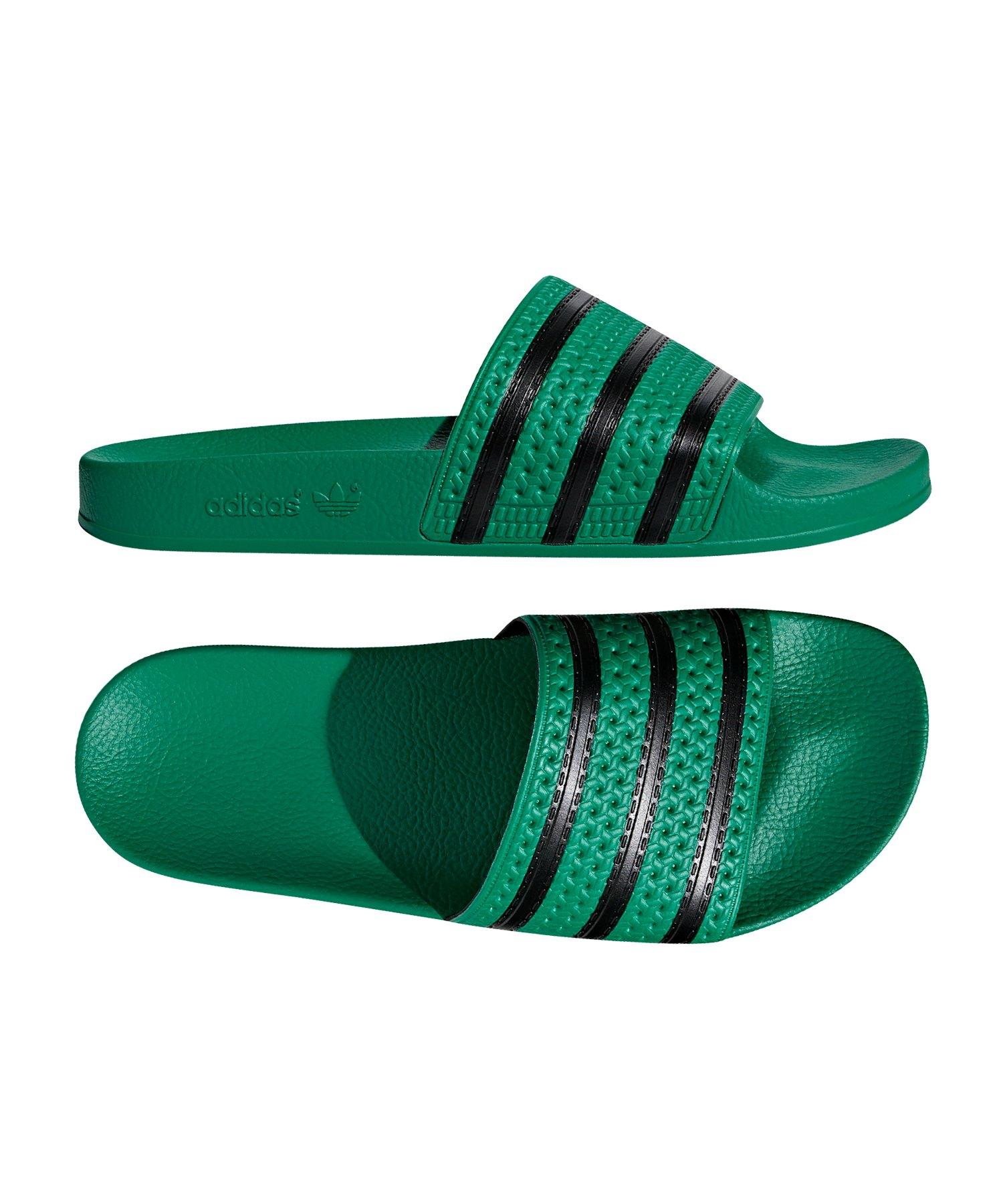 adidas Originals Adilette Badelatsche Damen Grün Kleidung