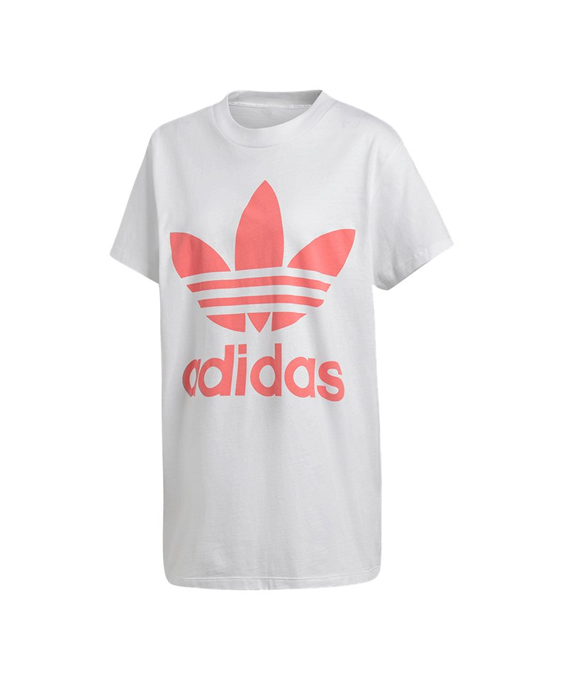 adidas Originals Big Trefoil T-Shirt Damen Weiss   Streetwear ... efc4e118e2