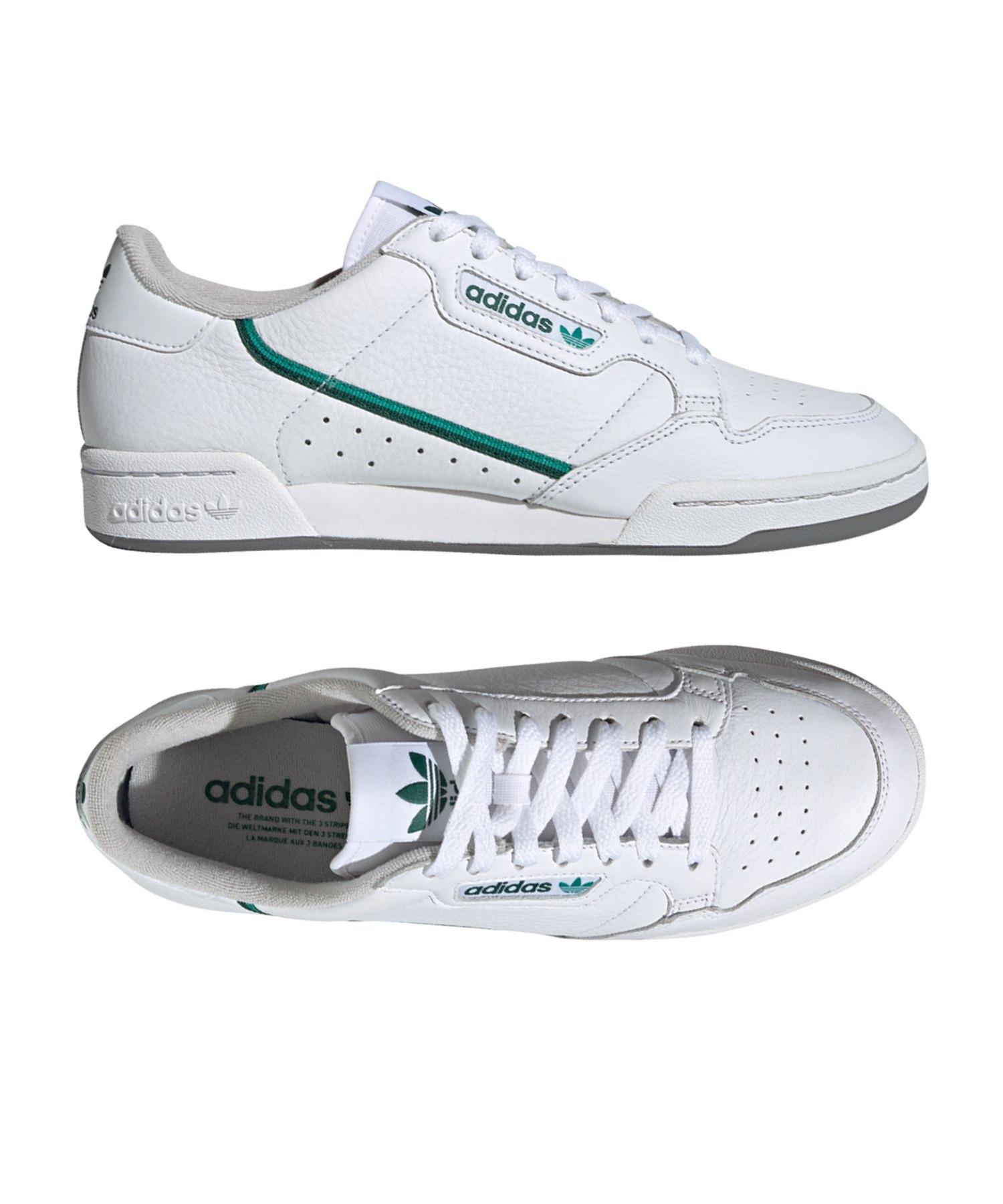 Herren adidas Originals Continental 80 Trainer In weiß blau