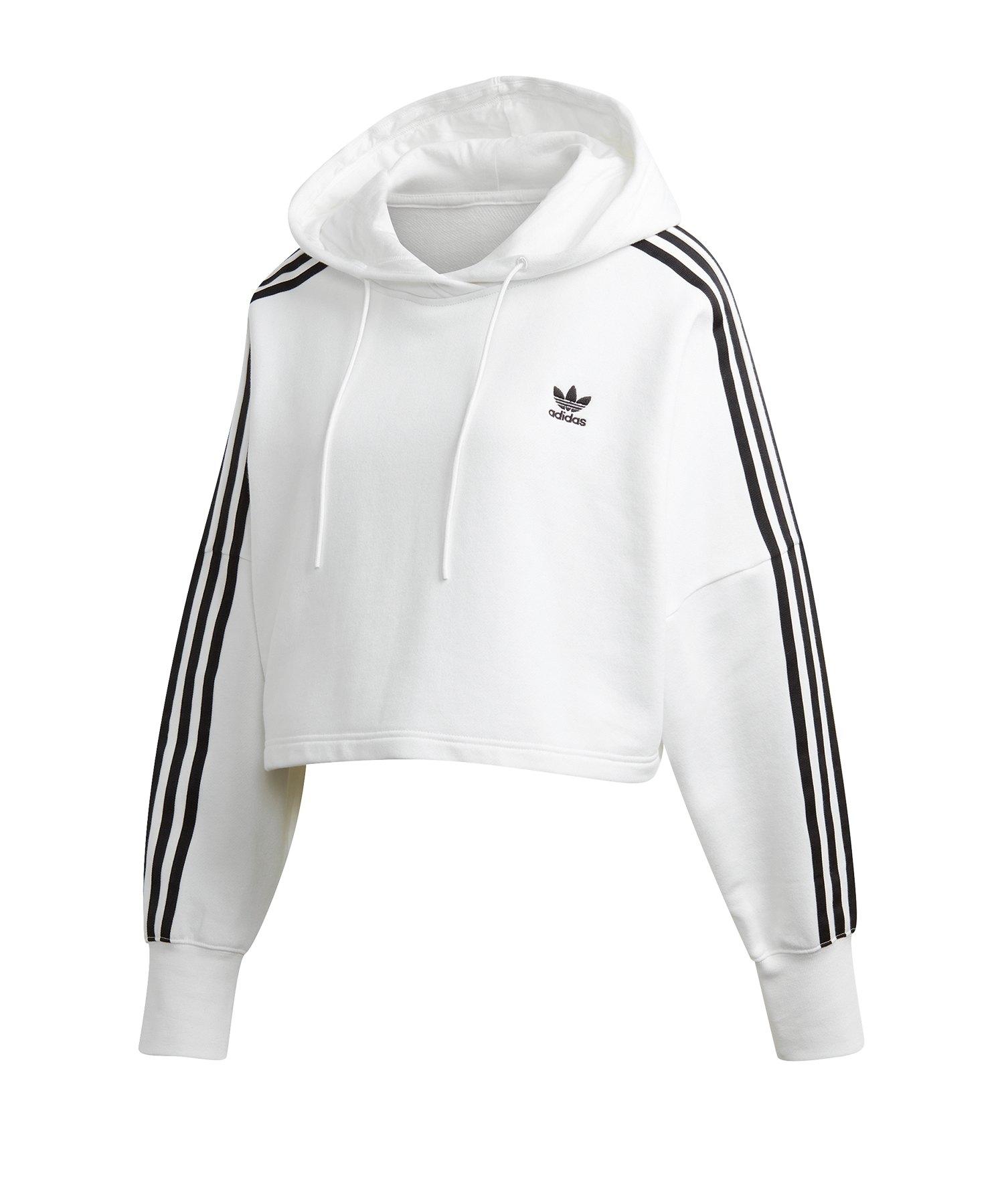 adidas Originals Cropped Hoody Damen Weiss
