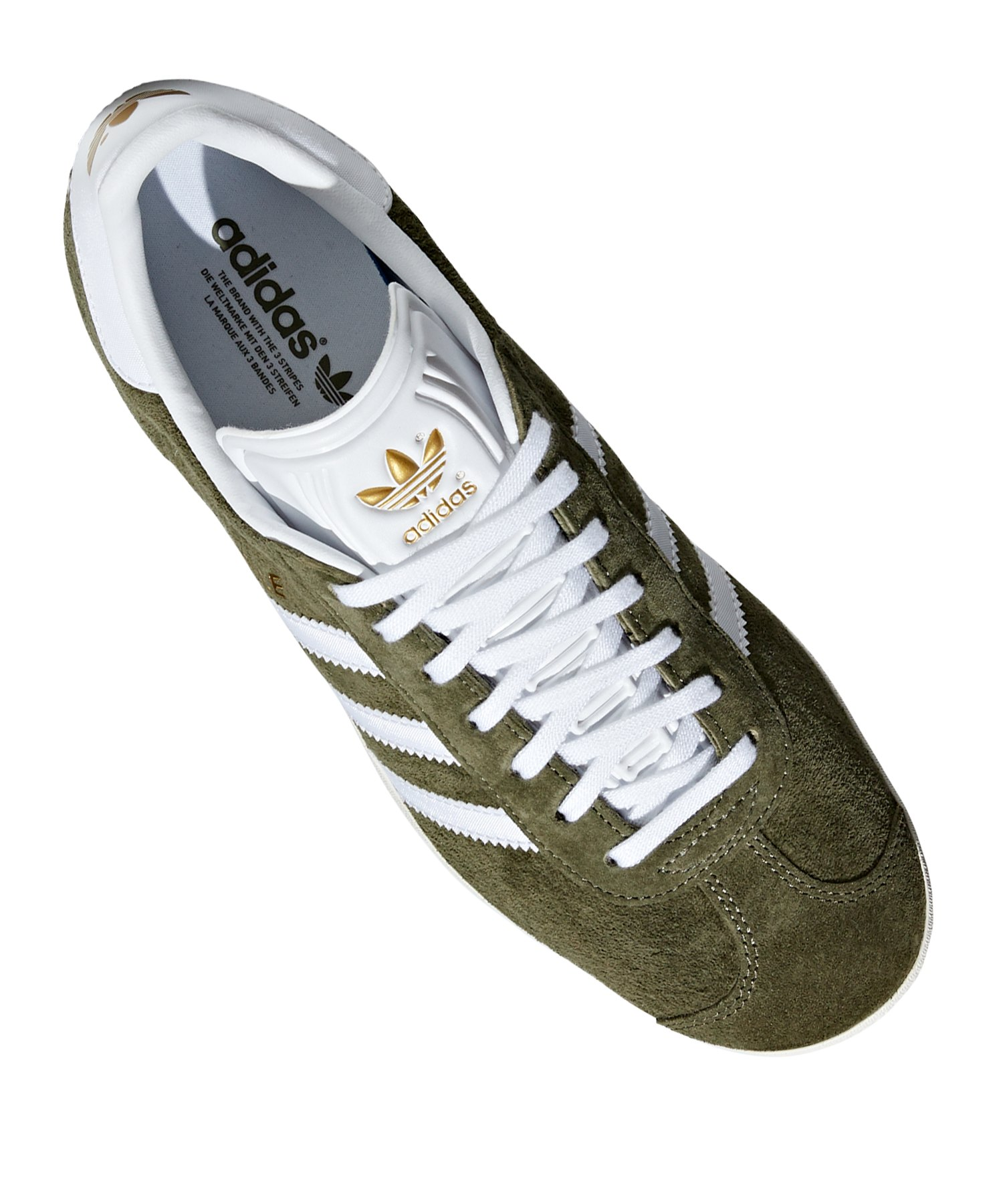 Gazelle Originals Damen Grün Weiss Adidas Sneaker WEDI29H