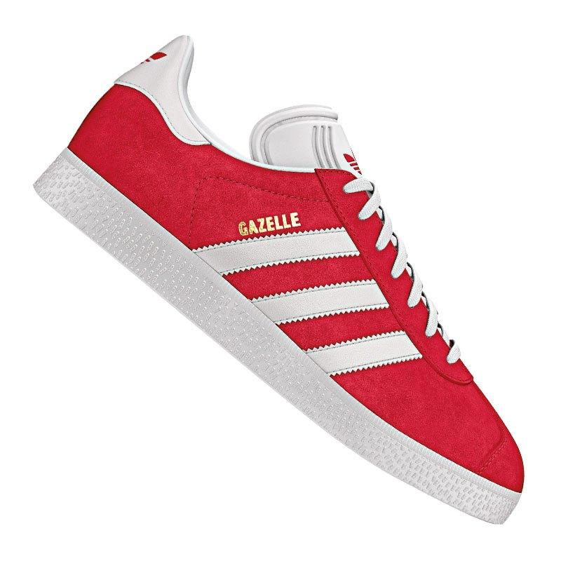 adidas originals gazelle sneaker rot weiss schuh shoe lifestyle freizeit streetwear. Black Bedroom Furniture Sets. Home Design Ideas