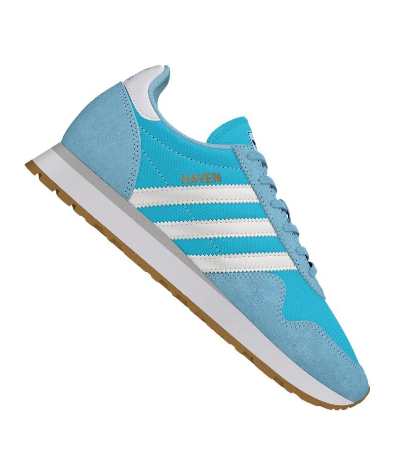 a56a3839618c55 adidas Originals Haven Sneaker Damen Blau Weiss - blau