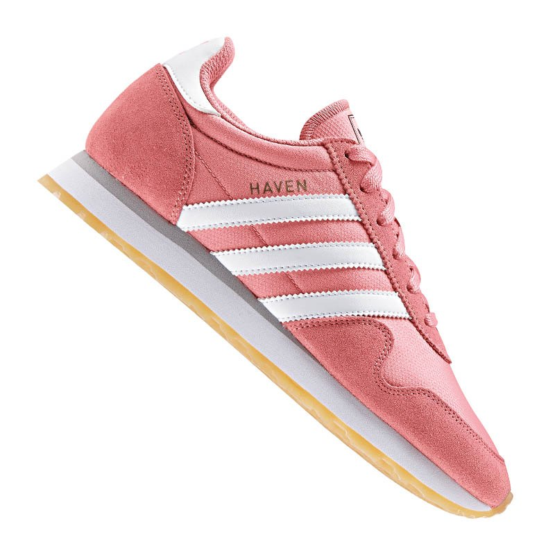 adidas originals haven sneaker damen rosa weiss frauen lifestyle damen freizeit women. Black Bedroom Furniture Sets. Home Design Ideas