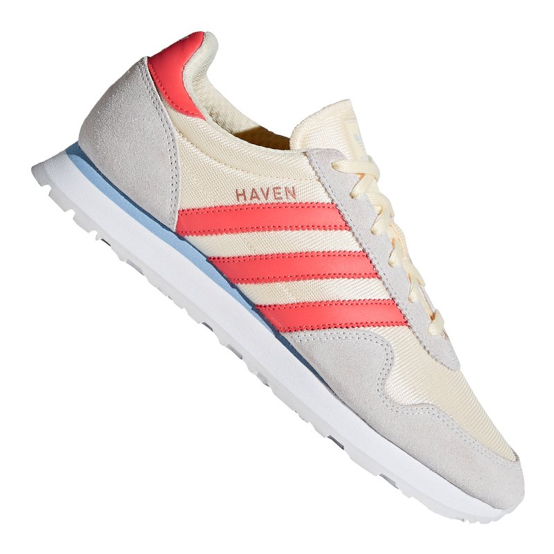 adidas originals haven sneaker damen weiss rosa freizeitschuhe sneaker damenschuh lifestyle. Black Bedroom Furniture Sets. Home Design Ideas