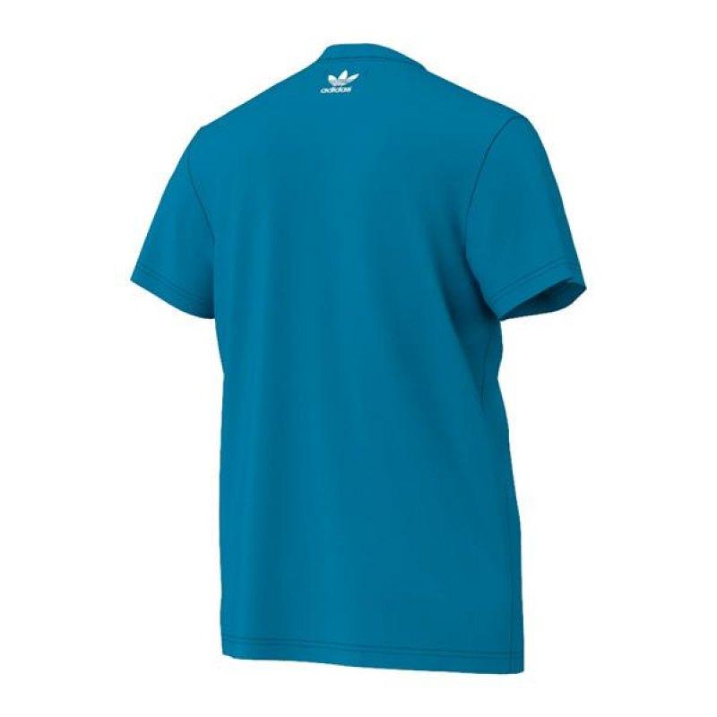 download image adidas originals hawaii trefoil tee t shirt blau pc. Black Bedroom Furniture Sets. Home Design Ideas
