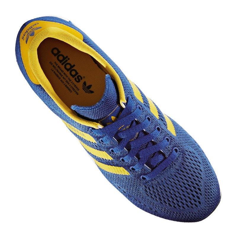 adidas originals la trainer sneaker blau gelb herrensneaker freizeitschuh lifestyle men. Black Bedroom Furniture Sets. Home Design Ideas