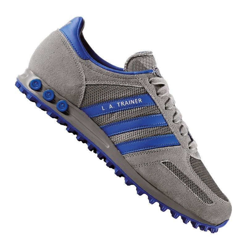 adidas originals la trainer sneaker grau blau. Black Bedroom Furniture Sets. Home Design Ideas