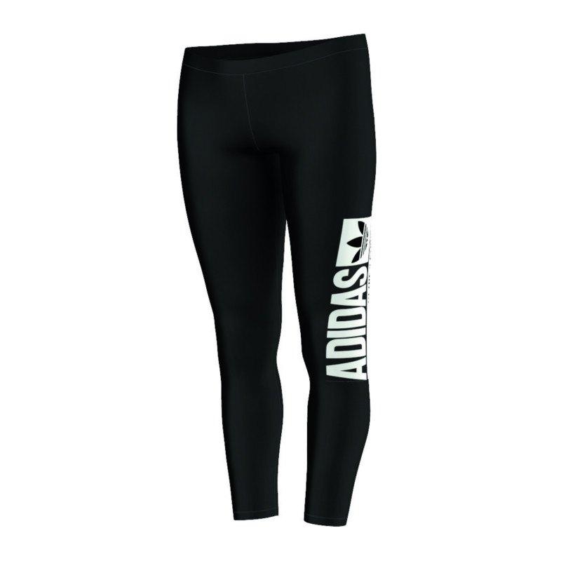 adidas originals leggings damen tight lifestylehose freizeit frauen schwarz. Black Bedroom Furniture Sets. Home Design Ideas