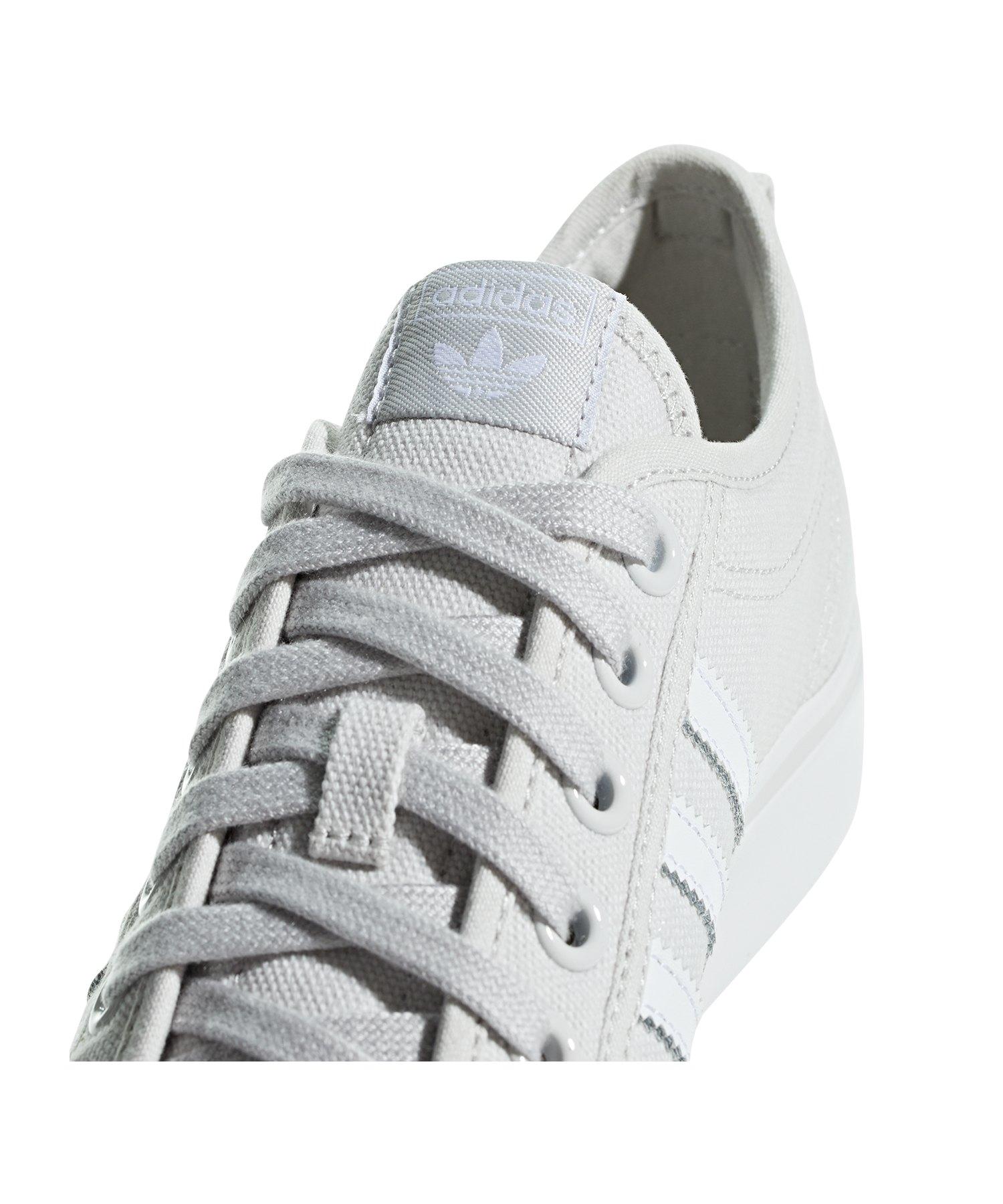 5295e71514d407 ... adidas Originals Nizza Sneaker Damen Grau Weiss - Grau ...
