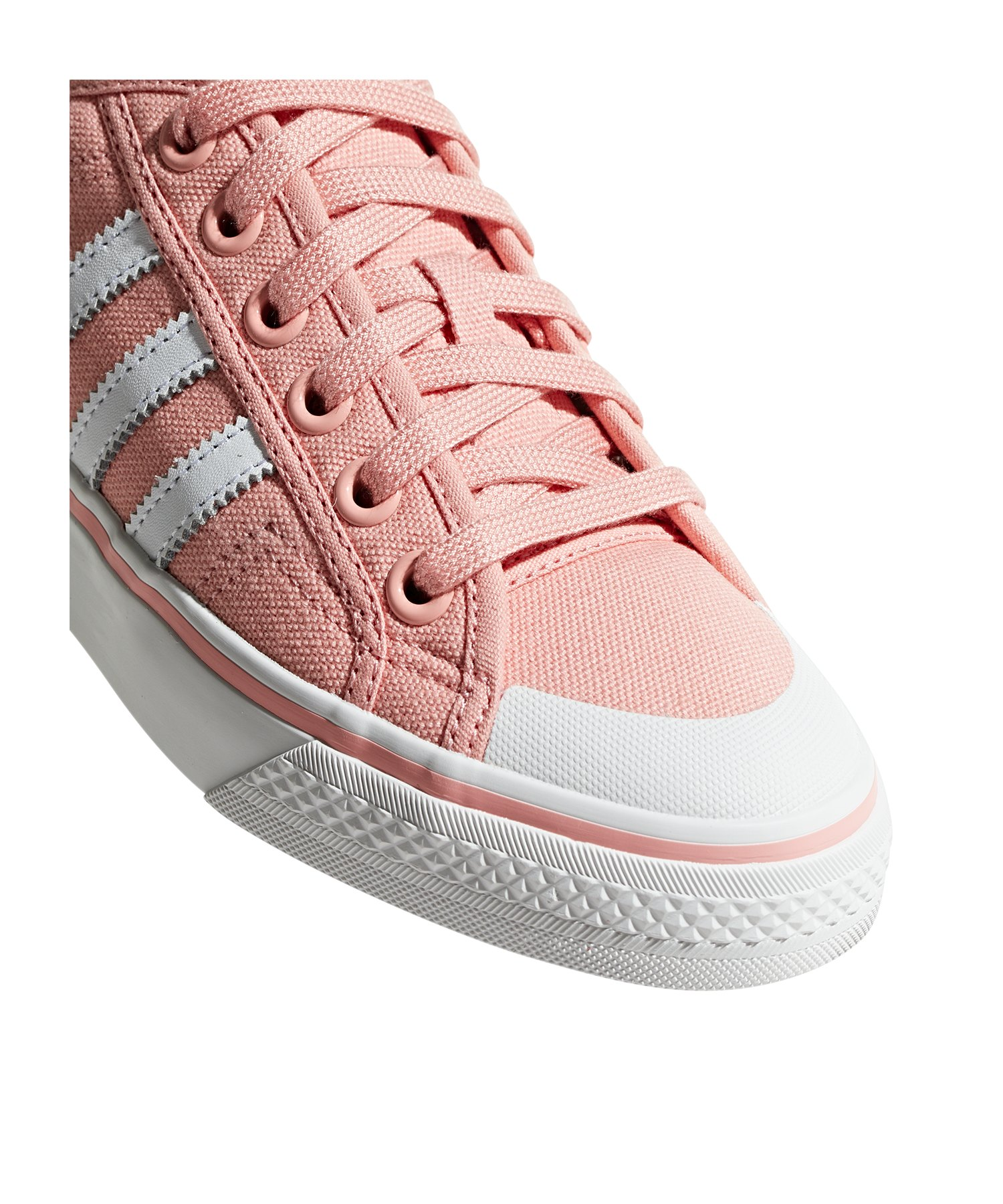 adidas originals nizza sneaker damen rosa weiss lifestyle. Black Bedroom Furniture Sets. Home Design Ideas
