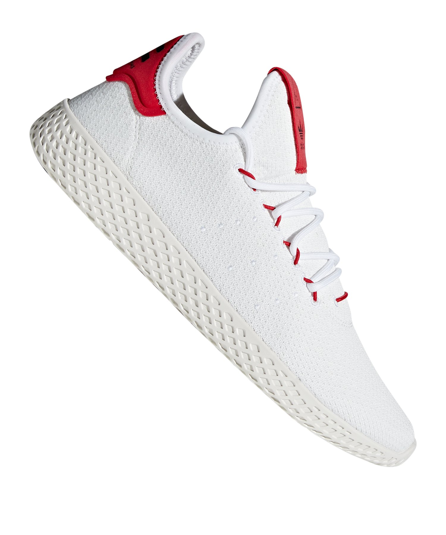 free shipping 0e7aa 53f47 adidas Originals PW Tennis HU Sneaker Weiss Rot - weiss