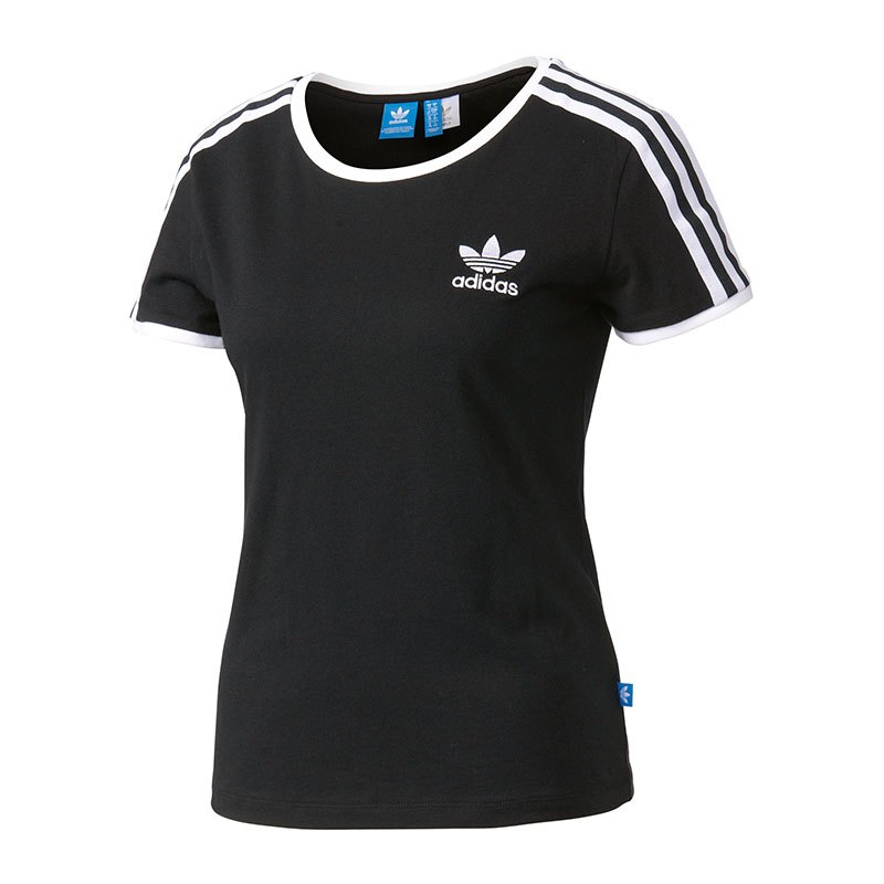 adidas originals sandra 1977 t shirt damen schwarz. Black Bedroom Furniture Sets. Home Design Ideas