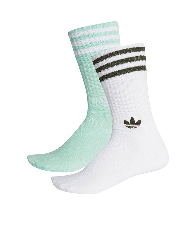 adidas Originals Solid Crew Sock 2er Pack Weiss